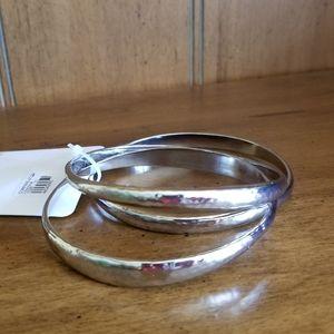 Cato Boho Chic Silver X Large Bangle Bracelet